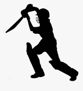 Silhouette image of cricket player